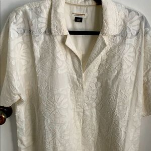 NWOT cream shirt from Anthropology size large